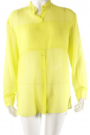 H&M Bluse neon-gelb transparent