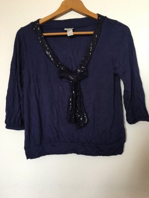 H&M Bluse Oberteil blau-Violett Gr. S