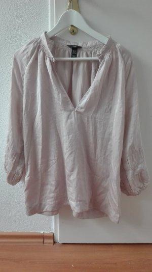 H&M Bluse oversize puder L 40 42 Tunika XL nude