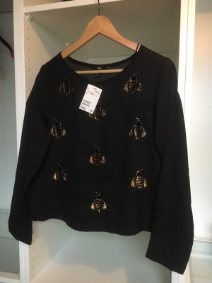 H&M Blouse Collar black-gold-colored
