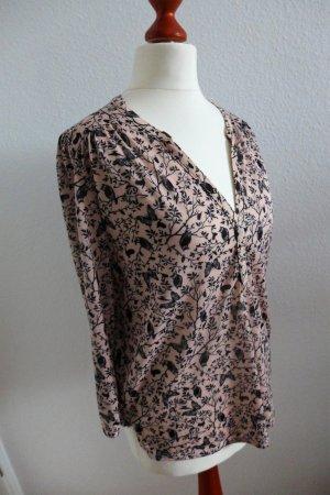 H&M Bluse rosa Schmetterlinge Eulen Gr. XS wie neu