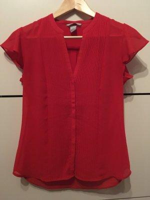 H&M Bluse rot Gr. 36 Chiffon