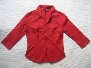 H&M bluse rot neuwertig büro gr. xs 34