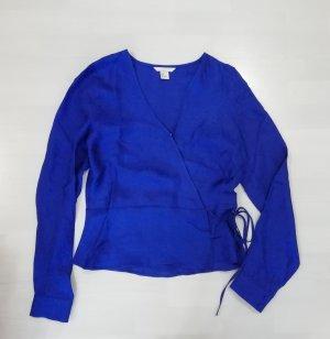 H&M Bluse Satin Jacquard Wickeloptik Wrap M