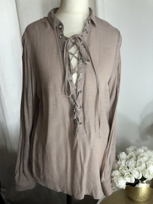 H&M Bluse Schnürrbluse