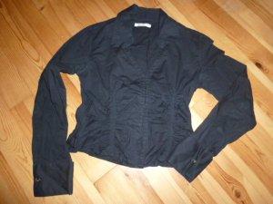 H&M Bluse schwarz gerafft