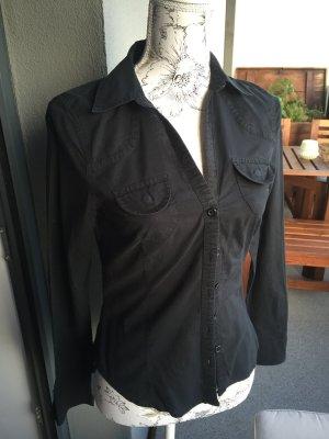 H&M Bluse schwarz Gr 36 S