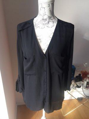 H&M Bluse schwarz Gr 44 wie neu