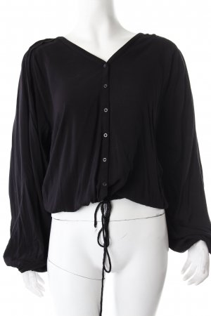 H&M Bluse schwarz mit Ballonärmeln