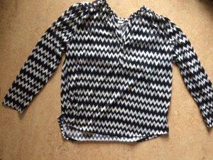 H&M Bluse, schwarz/weiß