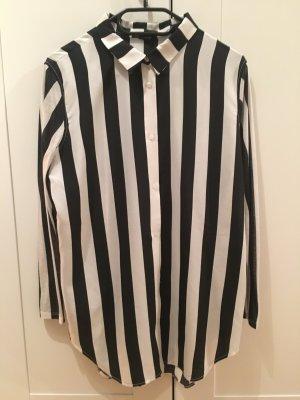 H&M Bluse schwarz weiß gestreift