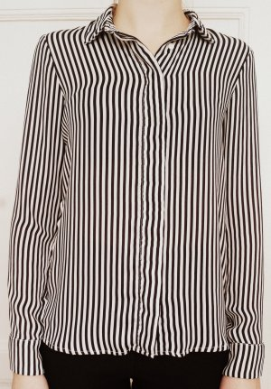 H&M Bluse - schwarz-weiß-gestreift