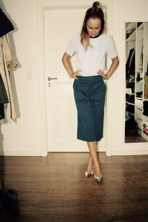 H&M Bluse Shirt Blau Schwarz Schleife 36 S Blogger