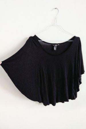 H&M Bluse Shirt mit Fledermausärmeln schwarz S-M / 36-38-40