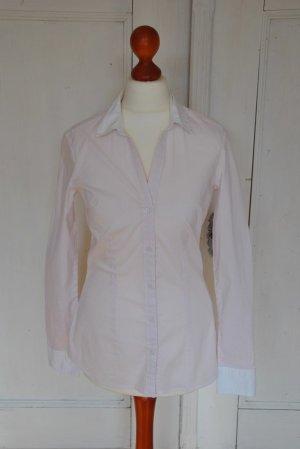 H&M Bluse Streifen 34 xs rosa weiß