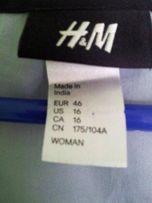 H&M Bluse top, 'Blue Black'