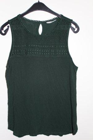 H&M Bluse Top Shirt grün Petrol Damen Gr. M / 38 Häkel