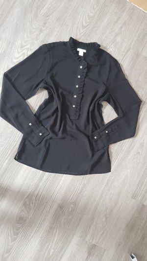 H&M Bluse Tunika Schwarz Gr 34