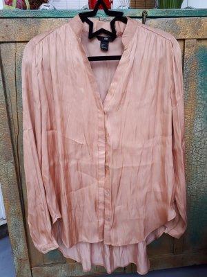 H&M Glanzende blouse abrikoos