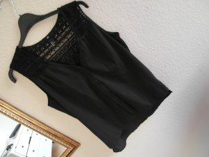 H&M bluse vintage schwarz Knopfleiste