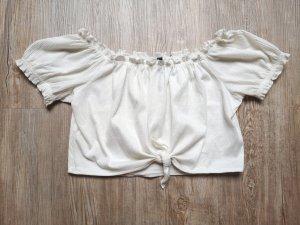 H&M Camisa de mujer blanco-blanco puro