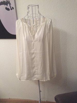 H&m Bluse weiße seidige Bluse 34