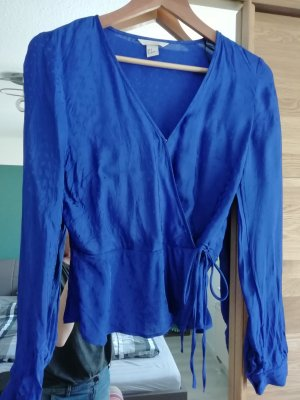 H&M Wraparound Blouse neon blue