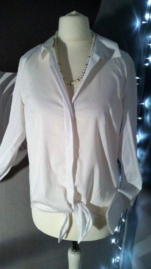 H&M Wraparound Blouse white