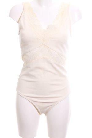 H&M Blusa tipo body crema look casual