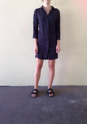 H&M Blusen-Kleid grau