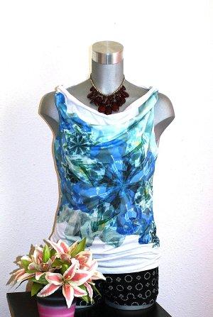 H&M Blusen Shirt gr. 38/40 Top Wasserfall-Ausschnitt