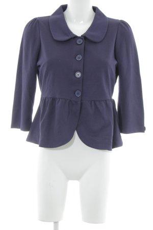 H&M Chaqueta tipo blusa violeta oscuro Patrón de tejido look casual