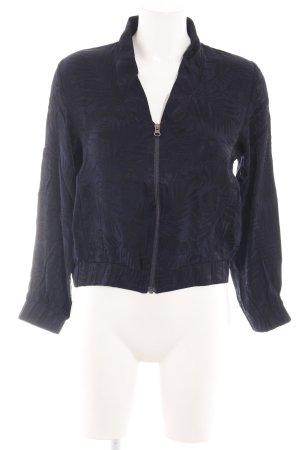 H&M Blousejack zwart-blauw casual uitstraling
