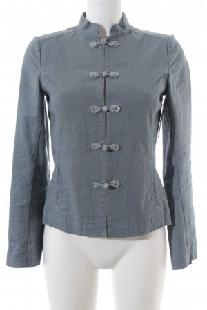 H&M Blusenjacke graublau Casual-Look