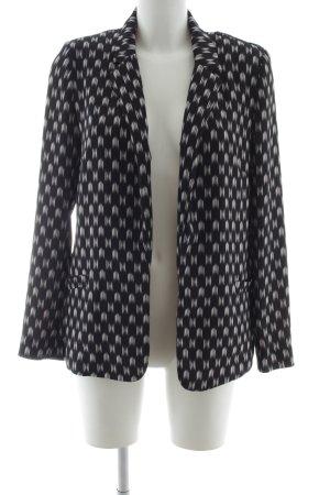 H&M Blusenjacke schwarz-weiß Allover-Druck extravaganter Stil