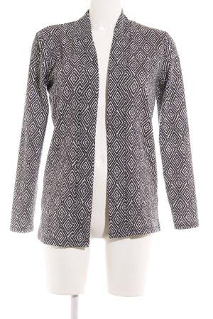 H&M Blusenjacke schwarz-weiß Ikatmuster Casual-Look