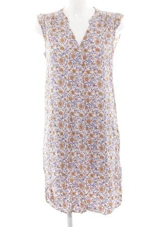 H&M Blusenkleid nude-neonblau Allover-Druck Casual-Look