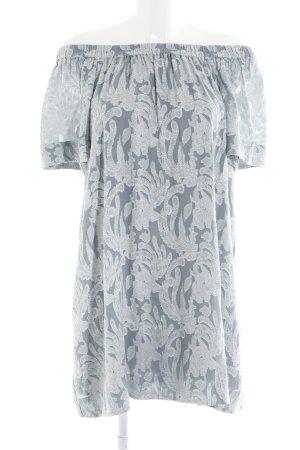 H&M Blusenkleid silberfarben-grau Mustermix Boho-Look