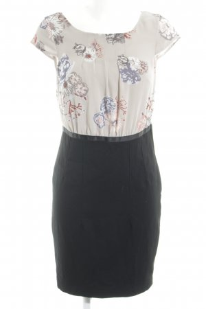 H&M Blusenkleid schwarz-hellgrau Blumenmuster Elegant