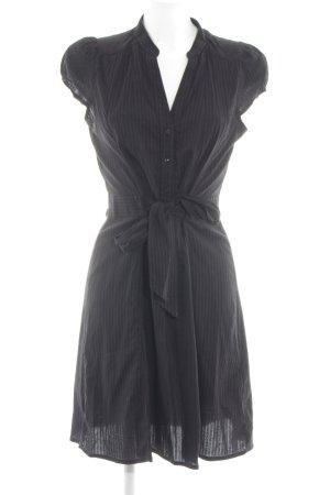 H&M Blusenkleid schwarz Streifenmuster Business-Look