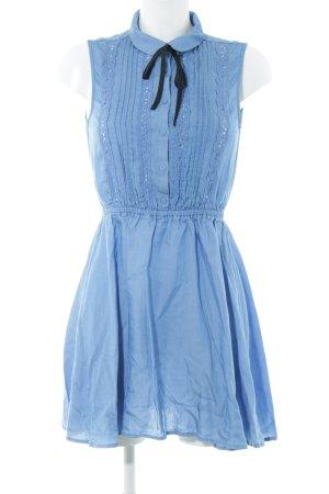 H&M Blusenkleid neonblau Casual-Look