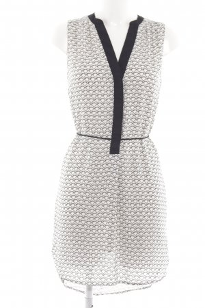 H&M Blusenkleid weiß-hellgrau abstraktes Muster Casual-Look