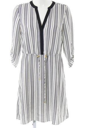 H&M Blusenkleid schwarz-weiß Streifenmuster Casual-Look