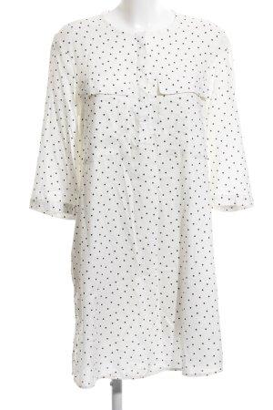 H&M Abito blusa bianco-nero motivo a pallini elegante