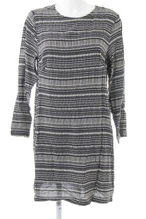 H&M Blusenkleid schwarz abstraktes Muster Casual-Look