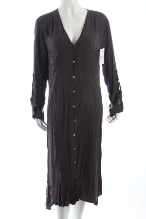 H&M Blusenkleid anthrazit klassischer Stil