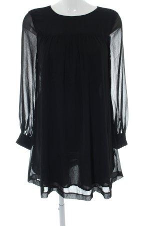 H&M Blusenkleid schwarz klassischer Stil