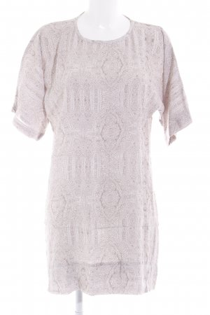 H&M Blousejurk beige-wolwit abstract patroon casual uitstraling
