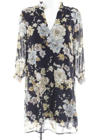 H&M Blusenkleid Blumenmuster Street-Fashion-Look