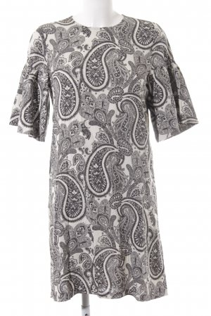 H&M Blusenkleid creme-anthrazit Paisleymuster Casual-Look